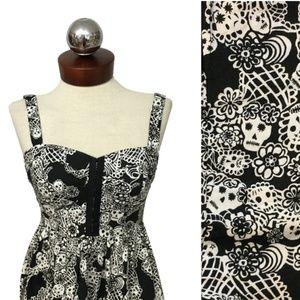 Hot Topic Royal Bones Tripp sugar skull dress XS